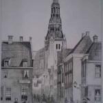 Brugstraat met A-kerk Groningen